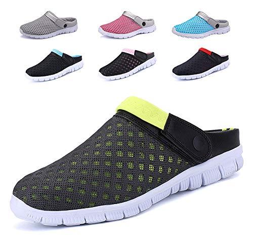 CCZZ Zuecos de Verano para Mujer Hombre Antideslizante Respirable Zapatos Zapatillas Sandalias Chanclas...