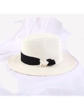 LVLIDAN Sombrero para el sol del verano Dama SolAnti-sunshinestrawhat Retrostyle blanco