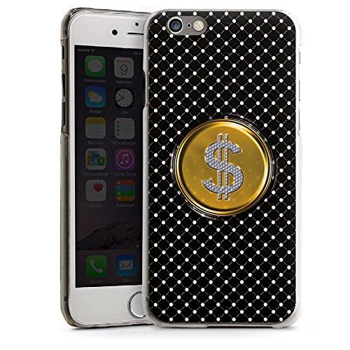 Apple iPhone 4 Housse Étui Silicone Coque Protection Dollar Argent Points CasDur transparent
