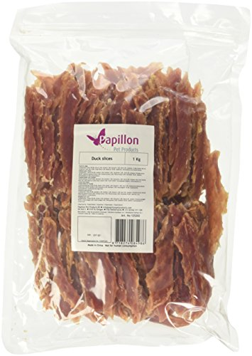 Papillon Pet Products - Snacks para Perros - Sabor Filete de Pato - Bolsa de 1 Kg