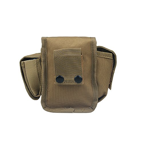 xhorizon TM FX Freiensport Nylon Militär Hüfttasche Außen Klette Mehrzweck Taktische Gürtel Gebrauchstasche Camping Wandern Reisebeutel 2-Khaki