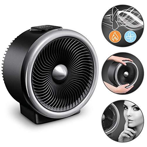 TROTEC Termoventilatore e ventilatore 2 in 1 TFH 2000 E 2 livelli di riscaldamento max. 2.000 Watt Particolarmente silenzioso Efficienza energetica tecnologia Turbospin