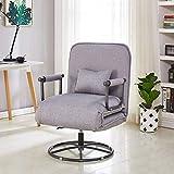 LCTCDD Moderne Simple 5 Position Chaise de Coucher Pliable Convertible Canapé-Lit...