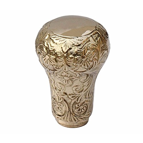 Hayah Nautical Benzara Gehstock, Metallgriffe, Knaufform, Gold-Finish, handgefertigt -