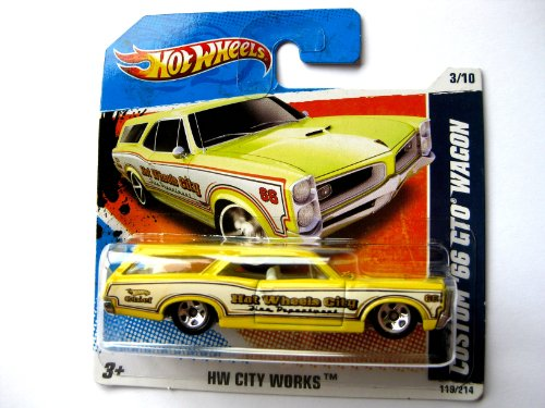 Hot Wheels Pontiac GTO Custom Wagon 1966 gelb 1:64 (Wheels Hot Gto)