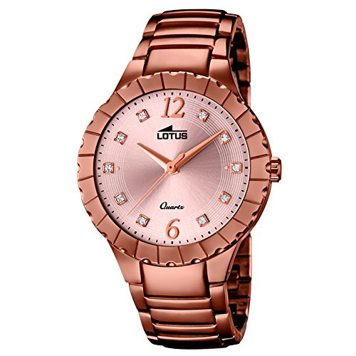 Lotus Women's Watch Lotus Trendy Analog Fashion Quartz Watch Stainless Steel Bracelet Bronze UL18413/2