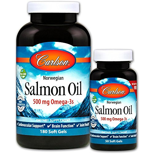 Carlson labs, norwegian salmon oil, 1000 mg, 180 + 50 free soft gels, 180 (+50 free)