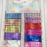 Hongma Lederstoff Quadratisches Gitter Muster PU Leder A4