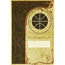 Monogram Basketball Notebook: Blank Journal Diary Log: Volume 52 (Monogram NouveauTwo 150 Lined)