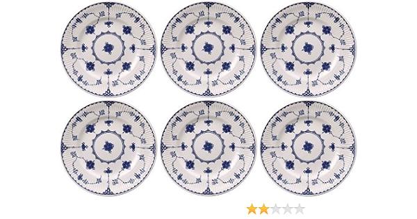 SECOND QUALITY Johnson Bros Blue Denmark * Set of 6 Dinner Plates 25cm