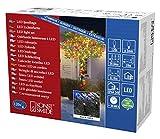 Konstsmide 3612-500 Micro LED Lichterkette/für Außen (IP44) / VDE geprüft / 24V Außentrafo / 120 bunte Dioden/schwarzes Kabel