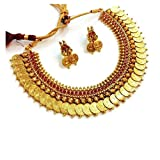 Zeneme Red Temple coin Necklace Set / Je...