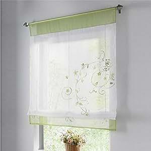 stickblume gardine raffgardinen vorhang raffrollo deko fuer wohnzimmer schlafzimmer. Black Bedroom Furniture Sets. Home Design Ideas