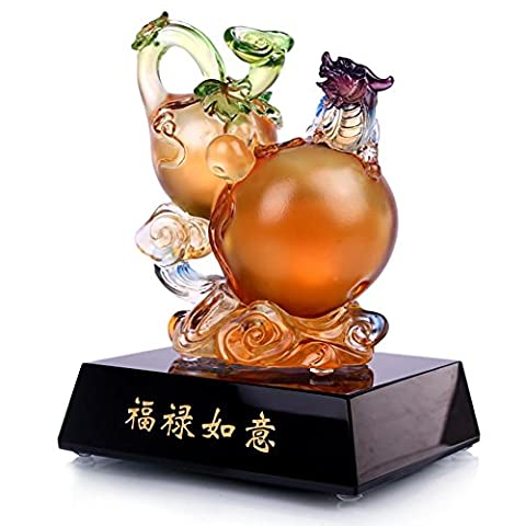 Crafts Glass brave troops gourd Decoration Home living room TV Wine cabinet accessories elder The elderly birthday present