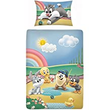 Ropa de cama infantil, 2 piezas (40 x 60 cm + 100 x 135 cm), 100% algodón, con cremallera, diseño de Disney