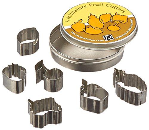R & M Mini Fruit Cookie Cutter Set, Tin - Cutter Tin Set