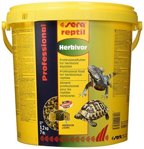 sera 01826 reptil Professional Herbivor 10 l - Pflanzen fressende Reptilien ernähren wie die Profis