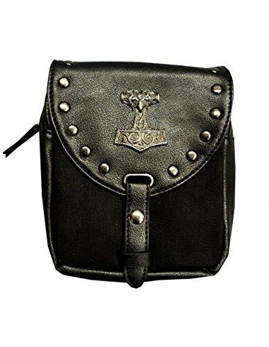 Kilt Tasche mit Thorshammer. (schwarz) schwarz