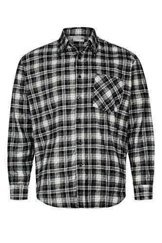 Preisvergleich Produktbild OCO Max Pro Herren Flanell-Hemd Arbeitshemd 100% Baumwolle Grau Gr.3XL/45 MP1014_3XL