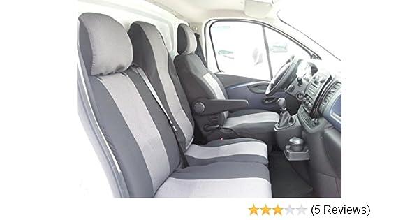 VW T5 9-Sitzer SET Schonbezüge Kunstleder schwarz Sitzbezüge passgenau passform