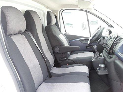 2+1 Sitzbezüge Luxus Schwarz Grau Polyester Neu mit Tisch Sitzbezug Schonbezüge Passgenau