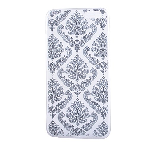 iPhone 6 hülle,iPhone 6S Case, Cozy Hut Kratzfeste Plating TPU Silicone Case Schutzhülle Ultra Dünn Tasche für mit iPhone 6 6S (4,7 Zoll) Hülle Case Transparent - Flamingos Schwarze Blumen