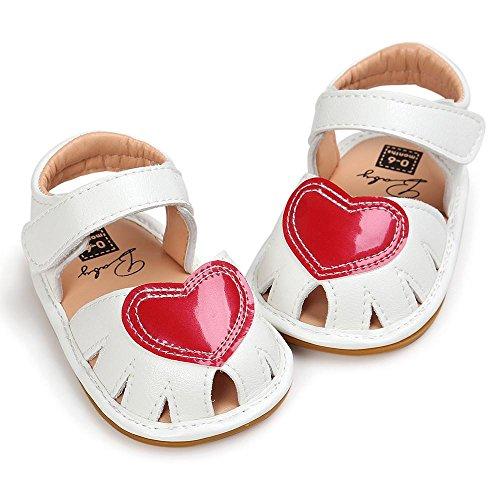 Criança Sandália Branco ~ Babyschuhe Única 6 Macio Casuais Rosa Meses 0 Sapato Jamicy® Antiderrapante Tênis 88vEqx6