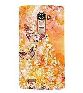 Butterfly Design 3D Hard Polycarbonate Designer Back Case Cover for LG G4 Mini :: LG G4C