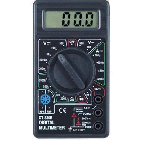 SIENOC Digital DT-830B Multimeter LCD Voltmeter Amperemeter Transistor Messgerät in Schwarz