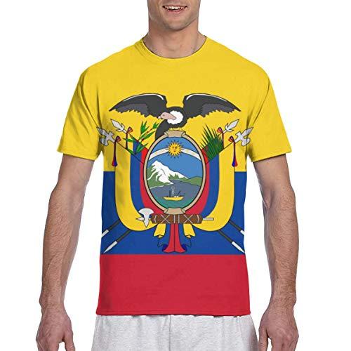 Zhgrong Men Tee Shirts Ecuador Flag Short Sleeve T-Shirts Crew Neck T Shirt