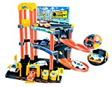 Toyshine City Parking Play Set Track Set with 3 Cars, Accessories