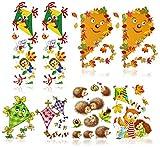 com-four® 8-teiliges Herbst Fensterbilder Set mit verschiedenen Motiven [Auswahl variiert], Deko Fenstersticker, statisch haftende Fensterfolie (08-teilig - Herbst Motive)