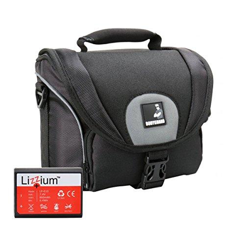 EOS Bundle Tasche für Canon Spiegelreflexkamera 1300D 1200D 1100D + Qualitäts Ersatz-akku LP-E10
