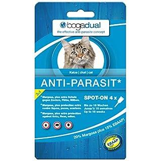 BOGADUAL UBO0542 Anti-Parasit Spot-On Katze, 4 x 0.75 ml