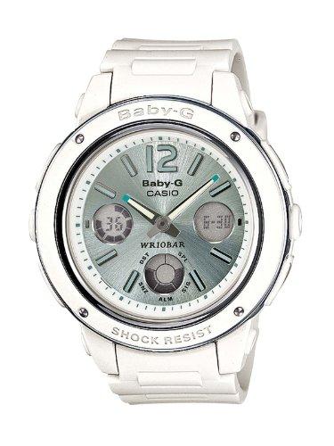 Casio Baby-G BGA-150-7B2ER - Reloj analógico - digital de cuarzo para mujer, correa de resina color blanco