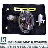 Kit de bolsa de botella de lavadora universal parabrisas Funnyrunstore con bomba 12V 151286776374 (negro)
