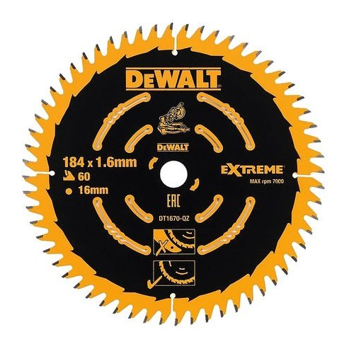 Preisvergleich Produktbild DeWalt DT1670 Kreissaegeblatt Akku 184/16mm 60WZ