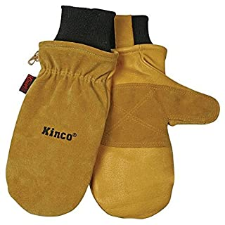 KINCO INTERNATIONAL 901T Heat Keep Thermal Lining Premium Pigskin Leather Mitt, Work, Gloves, Medium