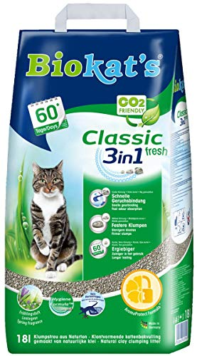 Biokat's Classic fresh 3in1 mit Duft - Klumpende Katzenstreu mit 3 unterschiedlichen Korngrößen - 1 Sack