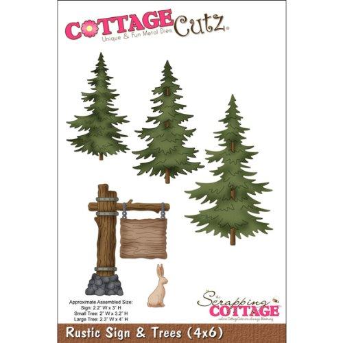 Cottage Cutz 6Rustikal Schild und Bäume sterben Schnitte - Cutz Cottage