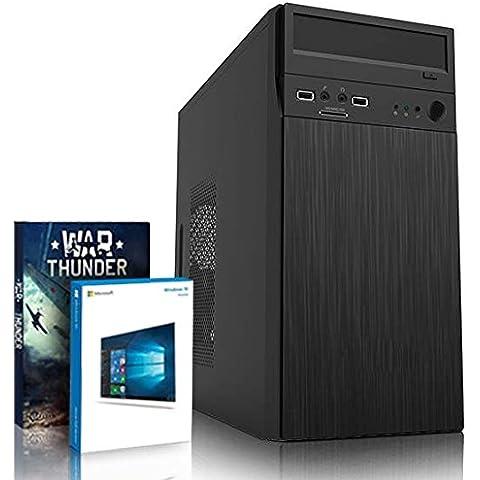 VIBOX Hypersonic 3 - 4,0GHz CPU 4-Core AMD, GTX 1060 GPU, Extremo, Ordenador de sobremesa para oficina Gaming con unidad central, Windows10 (3,8GHz (4,0GHz Turbo) Procesador CPU Quad 4-Core AMD FX 4300, Nvidia GeForce GTX 1060 3GBGPUde laTarjeta gráfica de altorendimiento, 16 GB Memoria RAM de DDR3, velocidad de RAM: 1600MHz, 1TB(1000GB)SataIII7200 rpmdiscoduroHDD, Fuente de alimentaciàn de 85 +PSU450W, Acero Micro-ATXCaja)