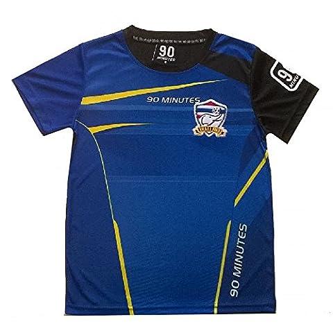 Fashion - Maillot de foot thailande 90 minutes bleu et jaune Taille de 4 à 14 ans - 6 ans