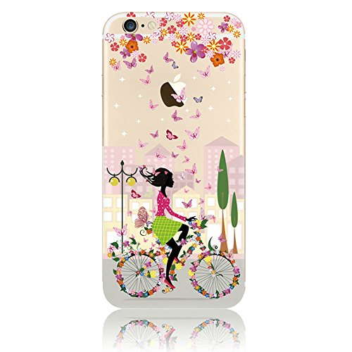 Coque iPhone 5s Coque Apple iPhone SE 5 5s Silicone Transparente Rigide Motif Etui Housse TPU Souple Sunroyal® Ultra-Light Ultra-Mince Case Cover de Protection Pare-Chocs Anti-Choc Bumper pour iPhone  Motif 07