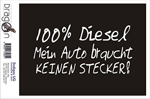 INDIGOS UG Aufkleber Autoaufkleber - JDM Die Cut Auto OEM - 100{1e9af022db57f7088bf5d9ff2d8c5a8b48f004135f7b109369d8bab455b54449} Diesel - 210x100mm weiß - Auto Laptop Tuning Sticker Heckscheibe LKW Boot