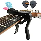 Mr.Power(TM) Guitar Capo With Pick Holder For Acoustic Electric Classical Guitar(Color:Black)