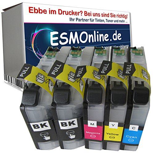 ESMOnline 5 XL comp. Cartouches d'encre avec puce pour Brother Brother LC223XL LC225 LC227 Brother DCP-J562DW Brother DCP-J4120DW / Brother MFC-J480DW MFC-J680DW MFC-880DW MFC-J4420DW MFC-J4620DW MFC-J4625DW MFC-J5320DW MFC-J5620DW MFC-J5625DW MFC-J5720DW