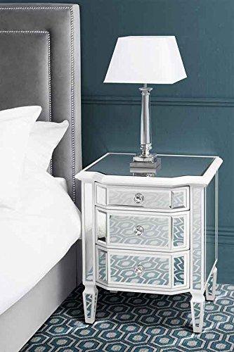 MY-Furniture – Mesilla de noche de espejo – Gama Leonore