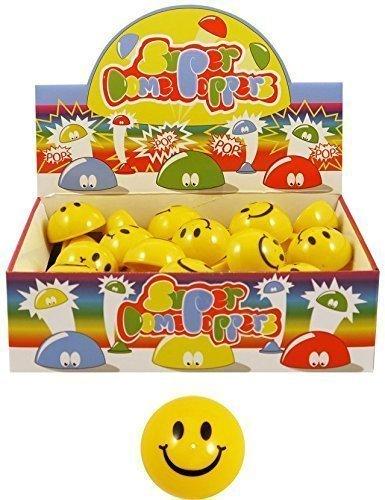 Massen-großhandel Kinder Party-Tasche Gastgeschenke Für Fete Glückstopf Preise Spielzeug - Smiley Kuppel Poppers 5cm (Schachtel von 48)