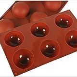 Molde para Torta de Silicona, D && R 2 Pack Molde para Torta de 6 Cavidades, Hemisphere Dome Molde de Silicona, Esfera media, Hornear para postres de chocolate delicado, Bombas de Helado, Tortas, Fabr