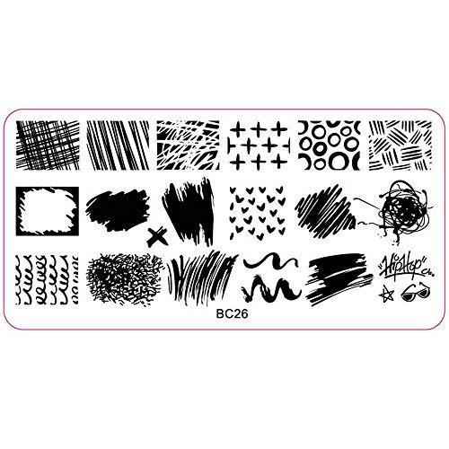 hlnagellack-Nagelaufkleberschablone, kreativen Nagelaufkleber des Entwurfs ()
